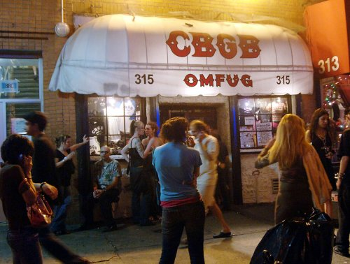 CBGB artifacts in Rock Hall Annex