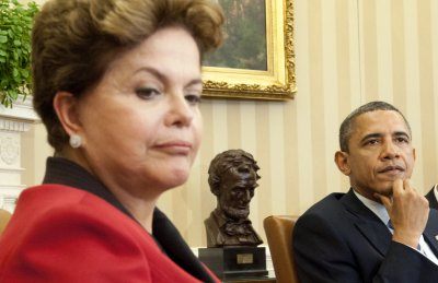 Brazil's Dilma Rousseff damaged by protests, trade slump