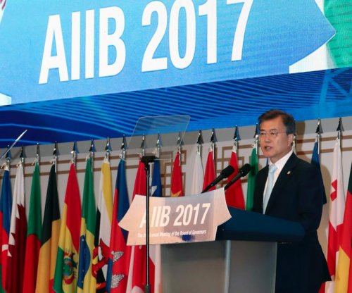 South Korea's Moon Jae-in calls on AIIB to work for peace