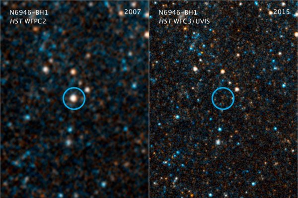 star collapsing black become - Astronomers see hole UPI.com