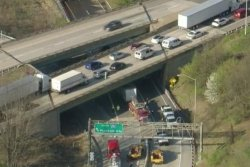 Overturned tractor-trailer spills syrup onto Pennsylvania highway