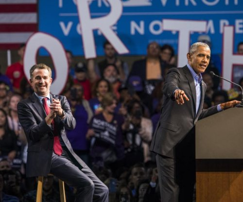 Like Bush, Obama voices concern for U.S. at first campaign event