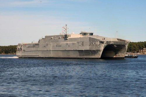 USNS Burlington returns to shipyard for bow modifications