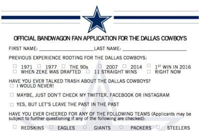 Dallas Cowboys invite fans to its growing bandwagon