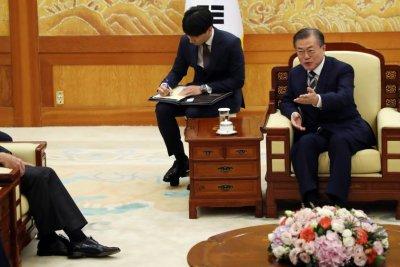 Pentagon chief Esper, Seoul leader Moon talk Japan security agreement