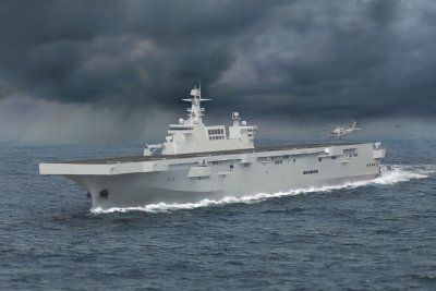 China's new amphibious warship begins sea trials