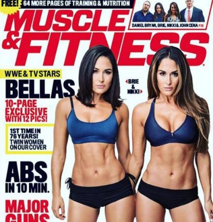 Nikki and Brie Bella grace the cover of Muscle & Fitness