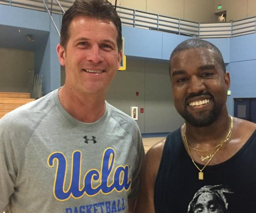 UCLA men's basketball team balls with Kanye West