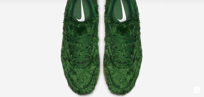 8d5af4473c8 Watch  Nike Air Max 1 shoes feature  grass  design - UPI.com