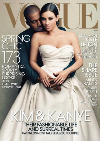 Miss Piggy and Kermit the Frog parody Kim and Kanye's Vogue cover