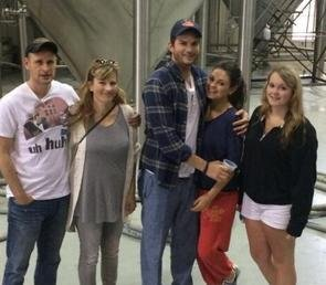 Mila Kunis, Ashton Kutcher step out in Louisiana