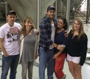 Mila Kunis, Ashton Kutcher step out in Louisiana