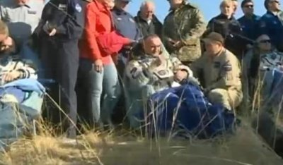 International Space Station crew lands safely on Earth
