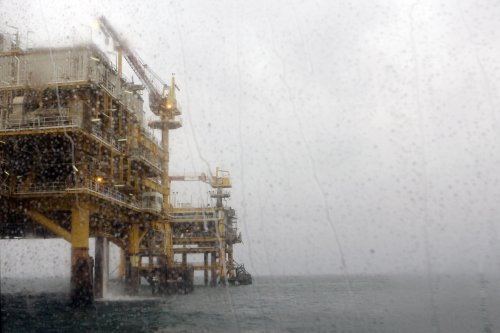 Radioactive waste approaching North Sea rig