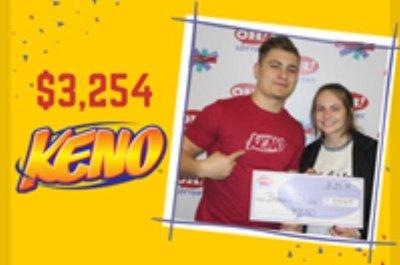 Ohio man wins three Keno pizes in one day