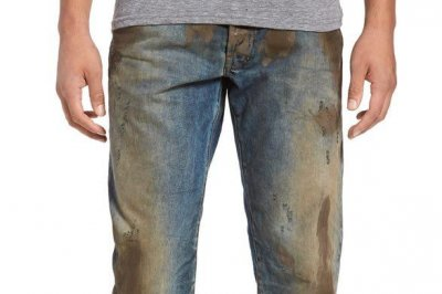 Nordstrom jeans come pre-caked with mud for $425