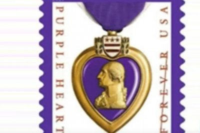 Purple Heart 'forever' stamp arrives at U.S. post offices