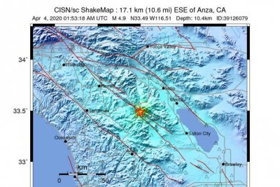 4.9-magnitude earthquake rattles Southern California