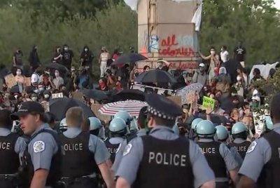 12 arrested, at least 18 injured at Chicago protest