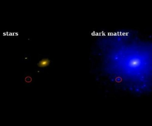 Nearby dwarf galaxy dominated by dark matter