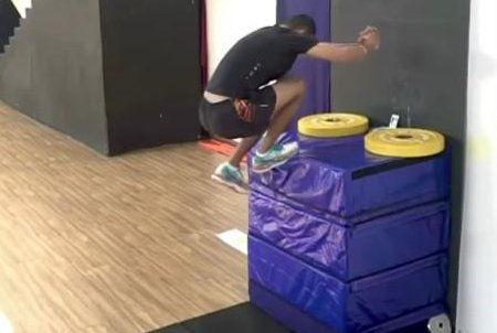 Man makes 4-foot, 6.49-inch standing high jump on one leg for world record