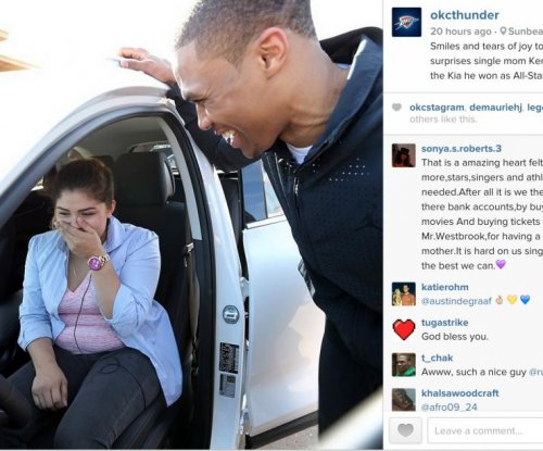 Oklahoma City Thunder's Russell Westbrook surprises single mom with car