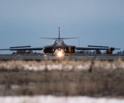 B-1 bombers fly mission over Norwegian Sea, near Russian navy
