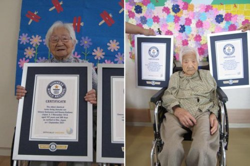 Japanese sisters dubbed world's oldest twins at 107