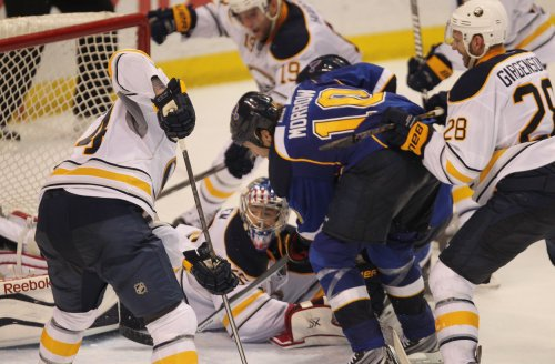 St. Louis Blues to a 2-1 victory over the Buffalo Sabres