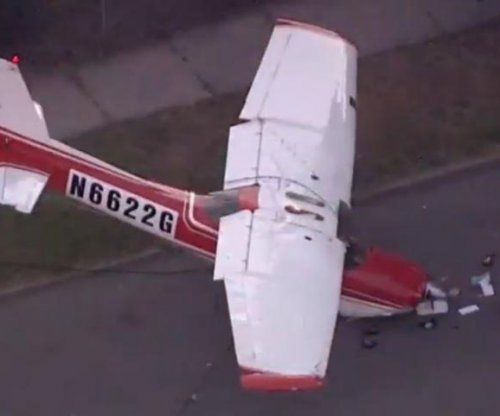 Small plane crashes in Detroit, striking power line that falls on woman