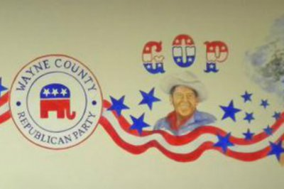 Reagan portrait defaced during break-in at county GOP office in North Carolina