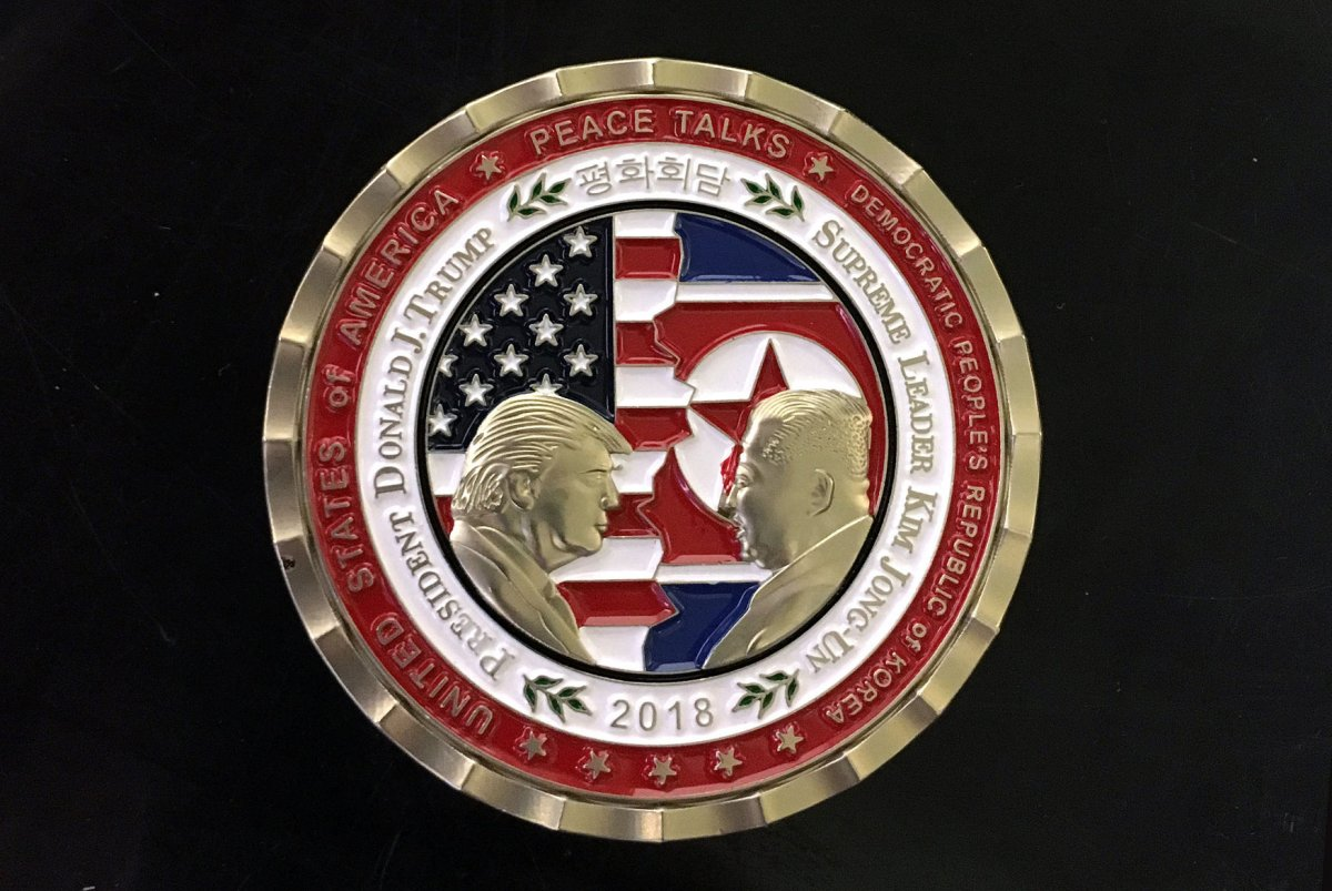 "The ""at least give Trump a little credit"" thread. - Page 2 Trump-administration-releases-North-Korea-summit-coin"