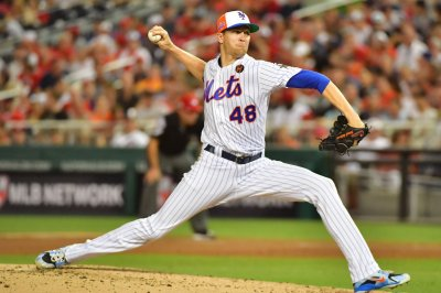 New York Mets' Jacob deGrom faces Philadelphia Phillies
