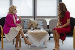 Jill Biden joins Kate Middleton at Cornwall school during British visit