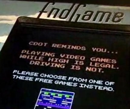 Fake video game at Denver pot shops warns players not to drive high