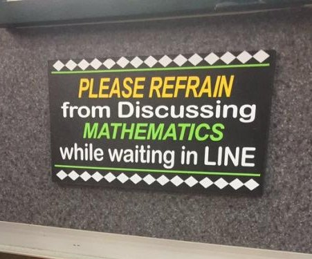 Baffling deli sign asks customers not to talk about math