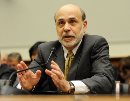 Bernanke sounds optimistic, or almost that
