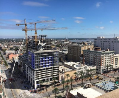Demolition of hotel cranes in New Orleans delayed until Sunday