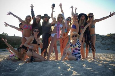 Julianne Hough kicks off bachelorette party weekend