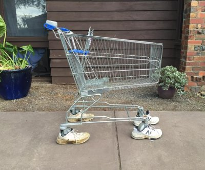 Australian man 'adopts' abandoned shopping cart