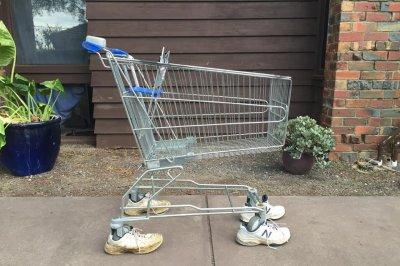 Australian man 'adopts' abandoned shopping cart