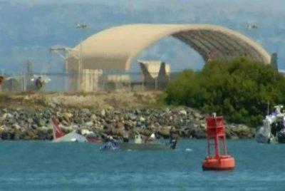 Navy jet goes off runway, splashes into San Diego bay