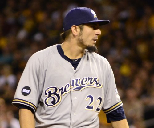 Matt Garza, Khris Davis ignite Milwaukee Brewers' blowout of San Diego Padres