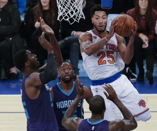 Does anyone know where New York Knicks guard Derrick Rose is?
