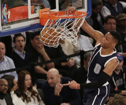 Russell Westbrook scores 57 as Oklahoma City Thunder down Orlando Magic in OT