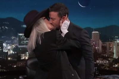 Diane Keaton kisses Jimmy Kimmel to recreate scene in 'Book Club'