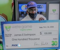 Man wins $100,000 by buying 20 identical lottery tickets for one drawing