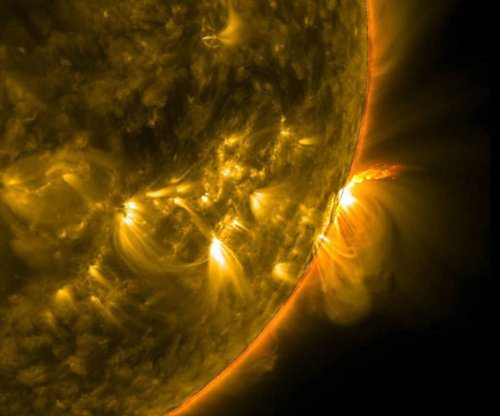 NASA's SDO images active region loops on sun's surface