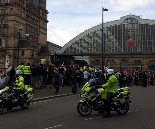 Far-right, anti-fascists clash in Liverpool protest
