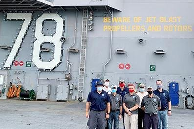 Navy tests sensors aboard USS Gerald R. Ford